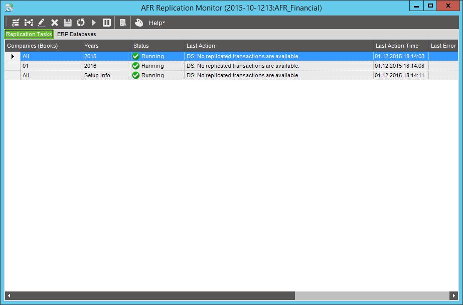 Процесс обновления данных после создания новой подписки репликации завершен