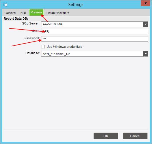 Смена пароля AFR на закладке Preview