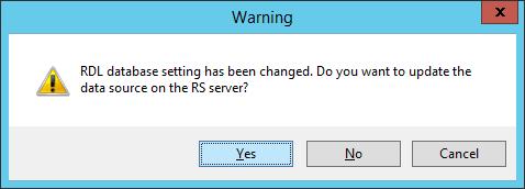 Обновить источник данных на сервере?