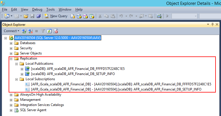 Репликация БД iScala и AFR - компоненты на SQL сервере