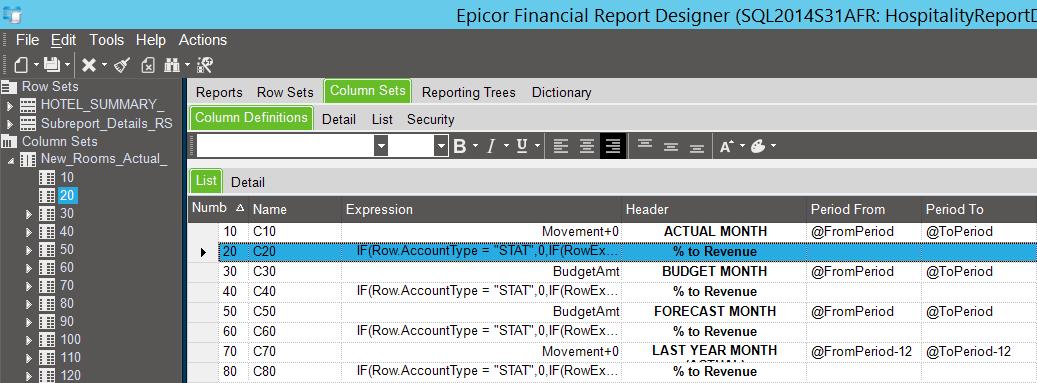 Формула для столбца отчёта AFR может ссылаться на пользовательское поле