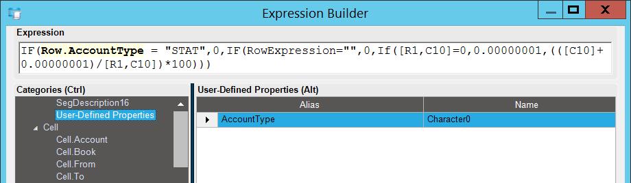 Выражение для столбца отчёта AFR с использованием пользовательского поля