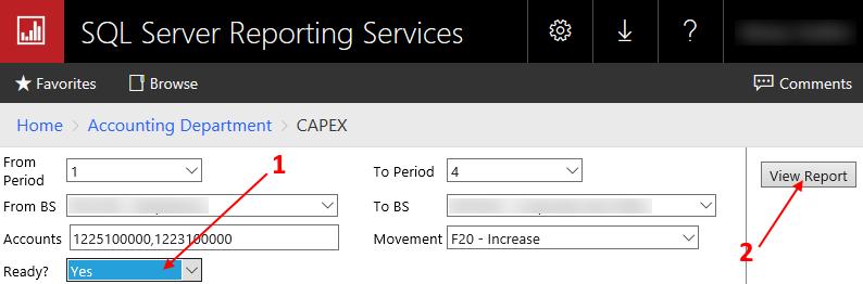 Если все параметры по умолчанию заполнены как надо и ничего менять не нужно, просто установите параметр «Ready?» = «Yes» и нажмите кнопку «View Report»