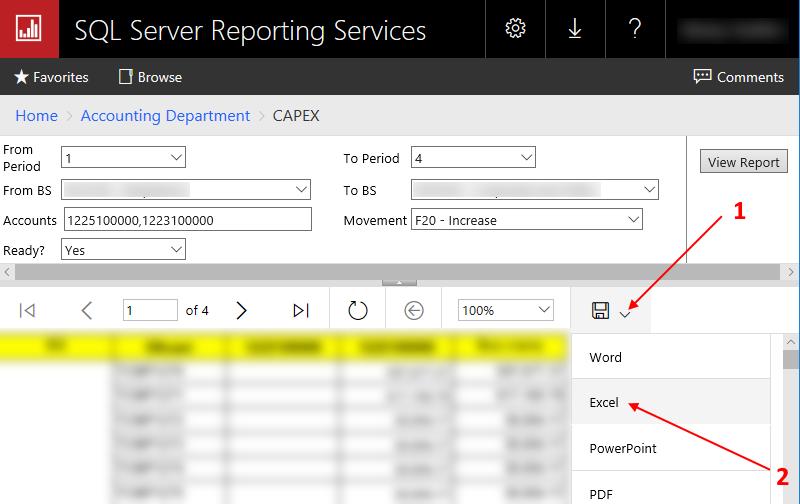 Если Вам неудобно просматривать его в веб интерфейсе, Вы можете сохранить его в Excel
