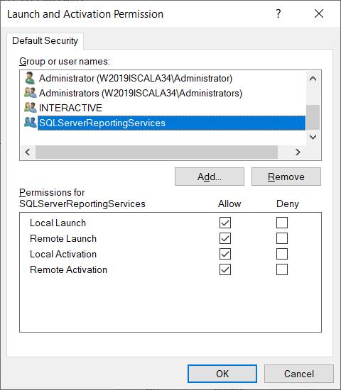 """Аналогично добавьте этого же пользователя в окне """"Launch and Activation Permission"""""""