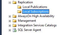 Delete Replication Subscription Manually