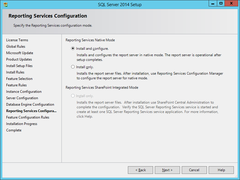 Install SQL Server Express 2014 With Advanced Services - шаг 10