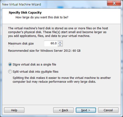 Создать новую виртуальную машину