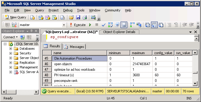 SQL Server: OLE Automation Procedures