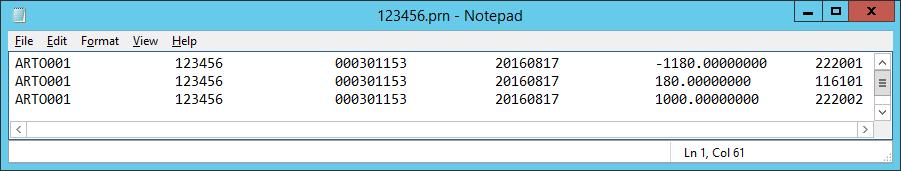 prn файл для импорта проводки счёта-фактуры Книги Закупок