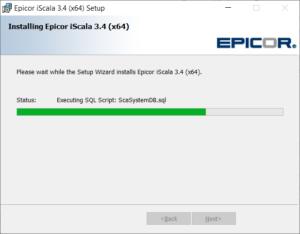 iScala 3.4 Setup DB