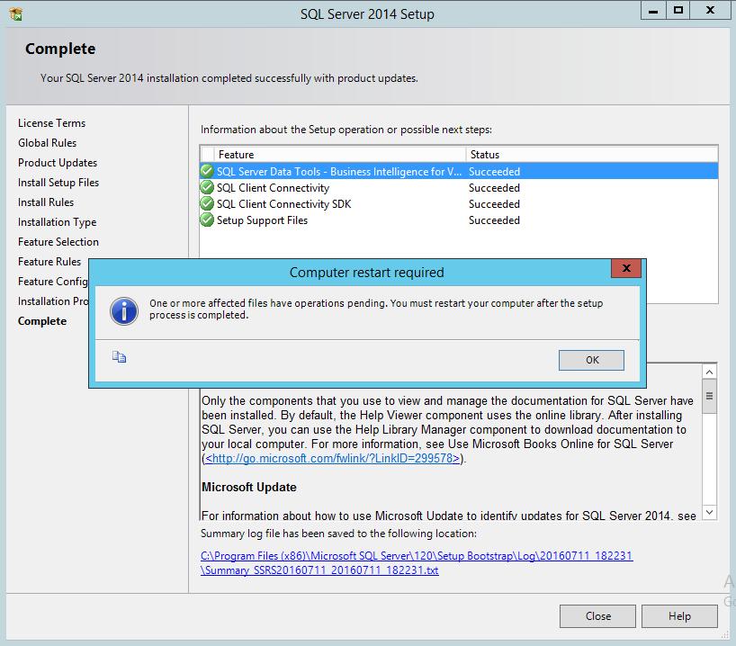 Окончание установки SSDTBI_x86_ENU