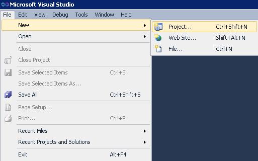 Создание файла проекта отчётов SSRS