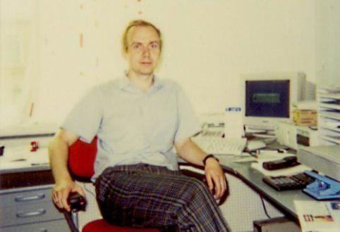 22.08.1996 МоДо Пейпер Санкт-Петербург. Моё рабочее место.